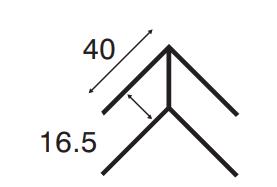 Heering Eckprofil 16,5 mm starr 3,00 m  Nr. 0612  verkehrsweiss