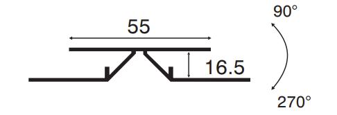 Heering Flex- Eckprofil 16,5 mm 3,00 m  Nr. 0614 verkehrsweiss