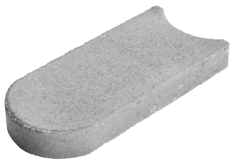 Rasenrandplatte Mähfix 33x16x4,5cm grau
