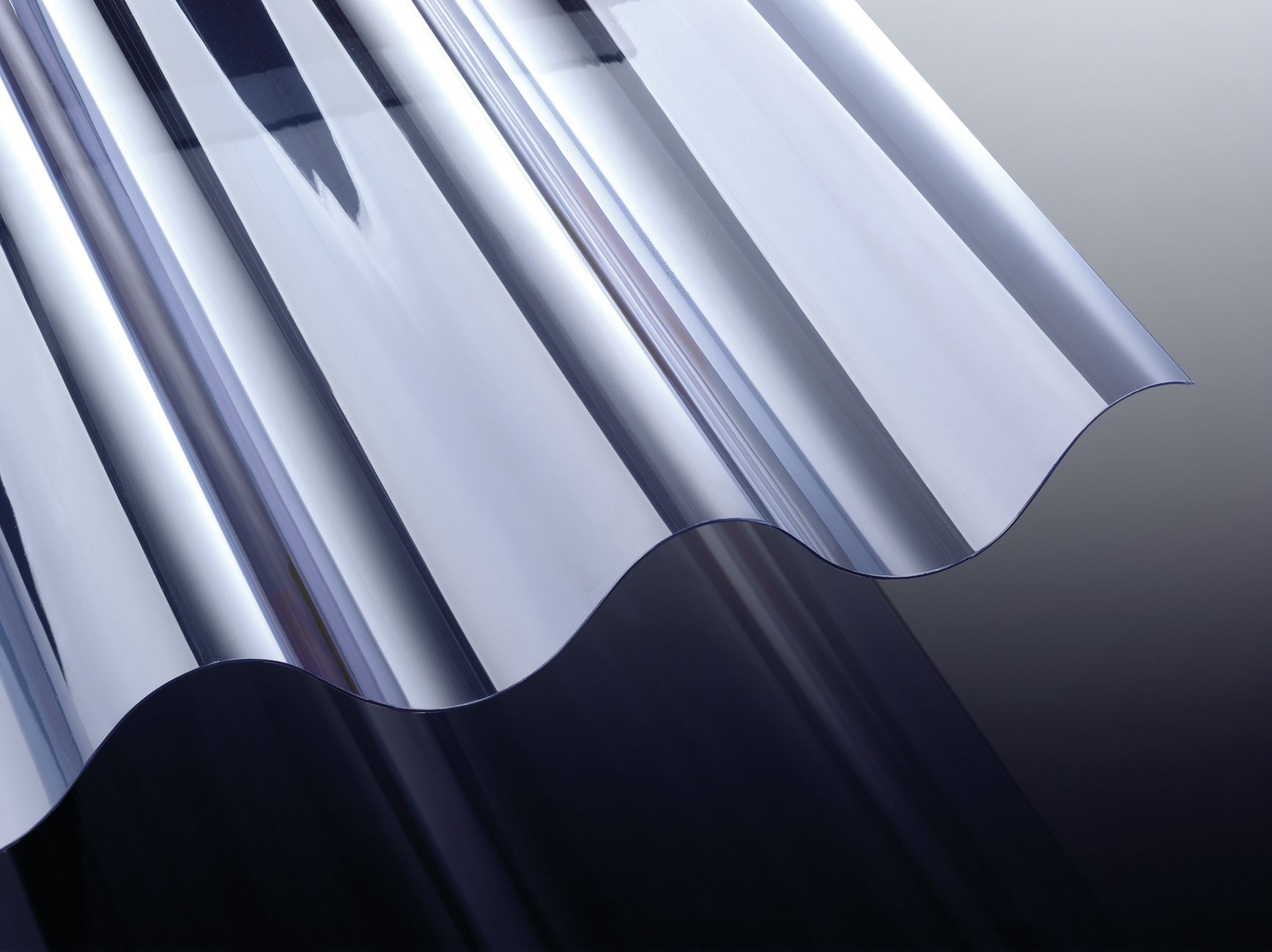 PVC Lichtplatten Profil 177/51 Welle 5 Glasklar 1,2/ 920 mm