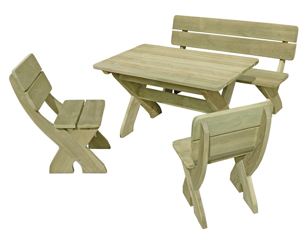 Sitzgruppe Toscana    / 66054  (1 Tisch/ 1 Bank/ 2 Stühle)    L933