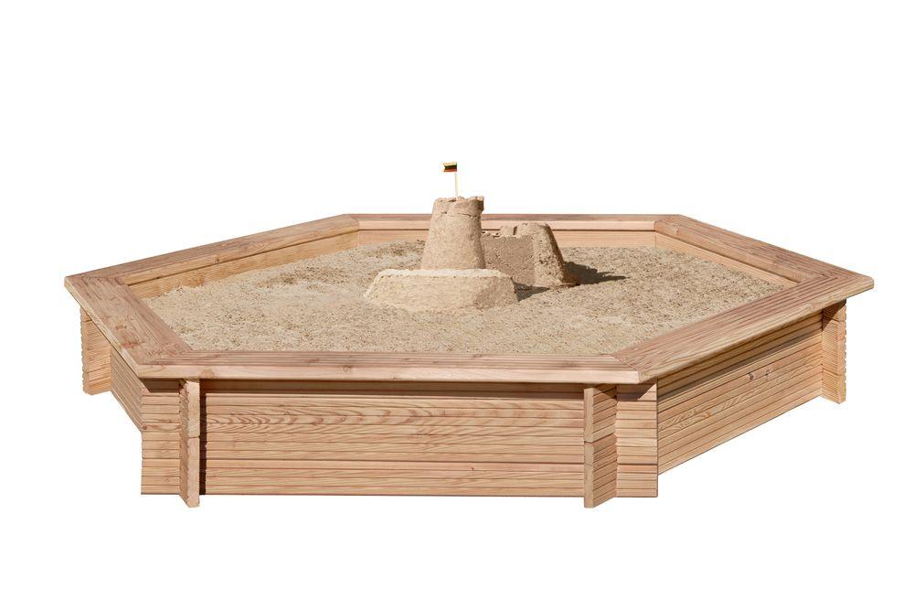 Sandkasten 6-eck aus Lärche  /  Nr. 6705  230 /30 cm    L1014