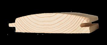 Blockhausprofil  Fi/Ta  18,5  x  96 mm 3,60 m   6 Stück/Bund
