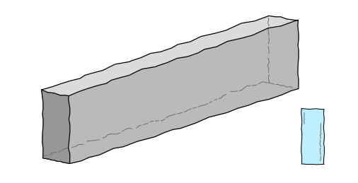 Granit Rasenkante, grau, *G 603* ca.6/20/100 cm allseitig sauber gespitzt