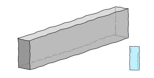 Granit Rasenkante, grau, *G 603* ca.8/25/100 cm allseitig sauber gespitzt