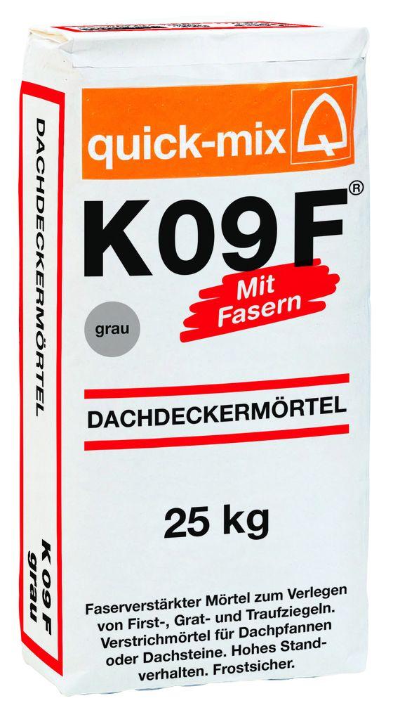 Dachdeckermörtel K 09 F schwarz 25kg