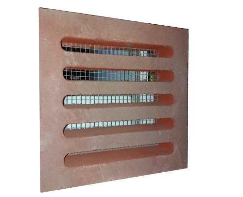 Entlüftungssteine ES013 rot 25 x 25 x 7 cm mit Stahl Sieb