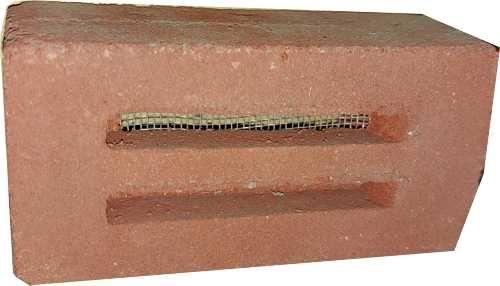 Entlüftungssteine ES002 rot 5,20 x 11,50 x 4 cm mit PVC Sieb