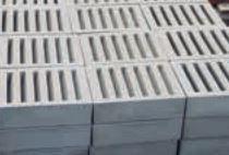 Entlüftungssteine ES012 grau 25 x 25 x 7 cm mit Stahl Sieb