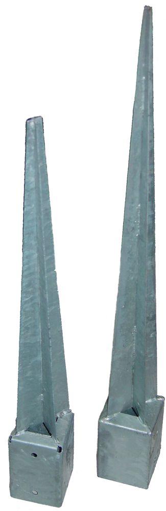 Einschlagbodenhülse feuerverzinkt 91x91x900 mm