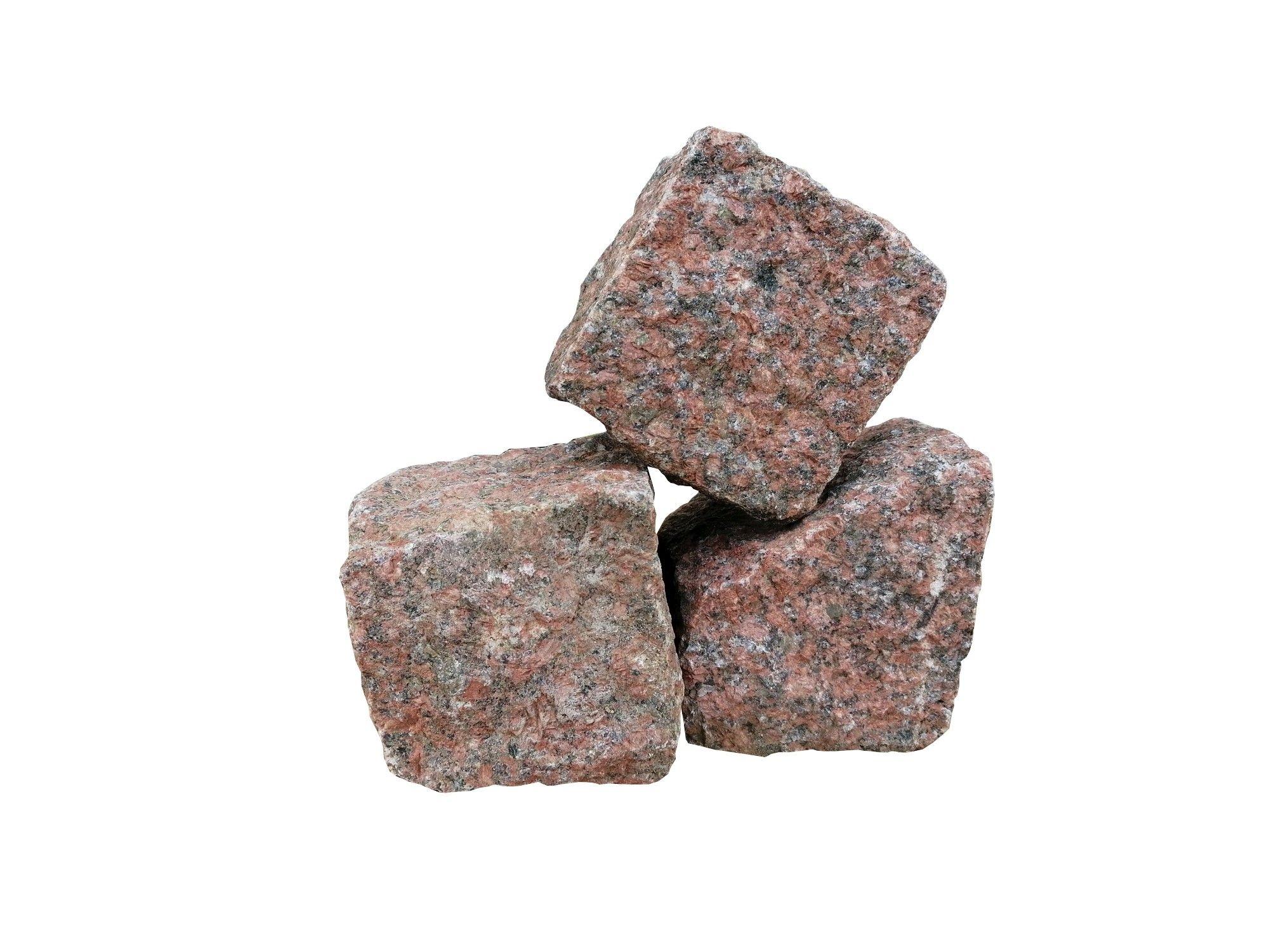 Granit Kleinpflaster rot -Top Stones- 9/9/9 cm