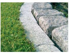 Granit-Mähkante grau 10 x 25 x 2,5 cm   GK 20/L1103