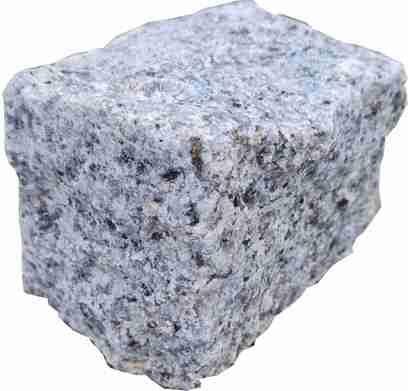 Granit Mosaikpflaster 4/6 cm hellgrau