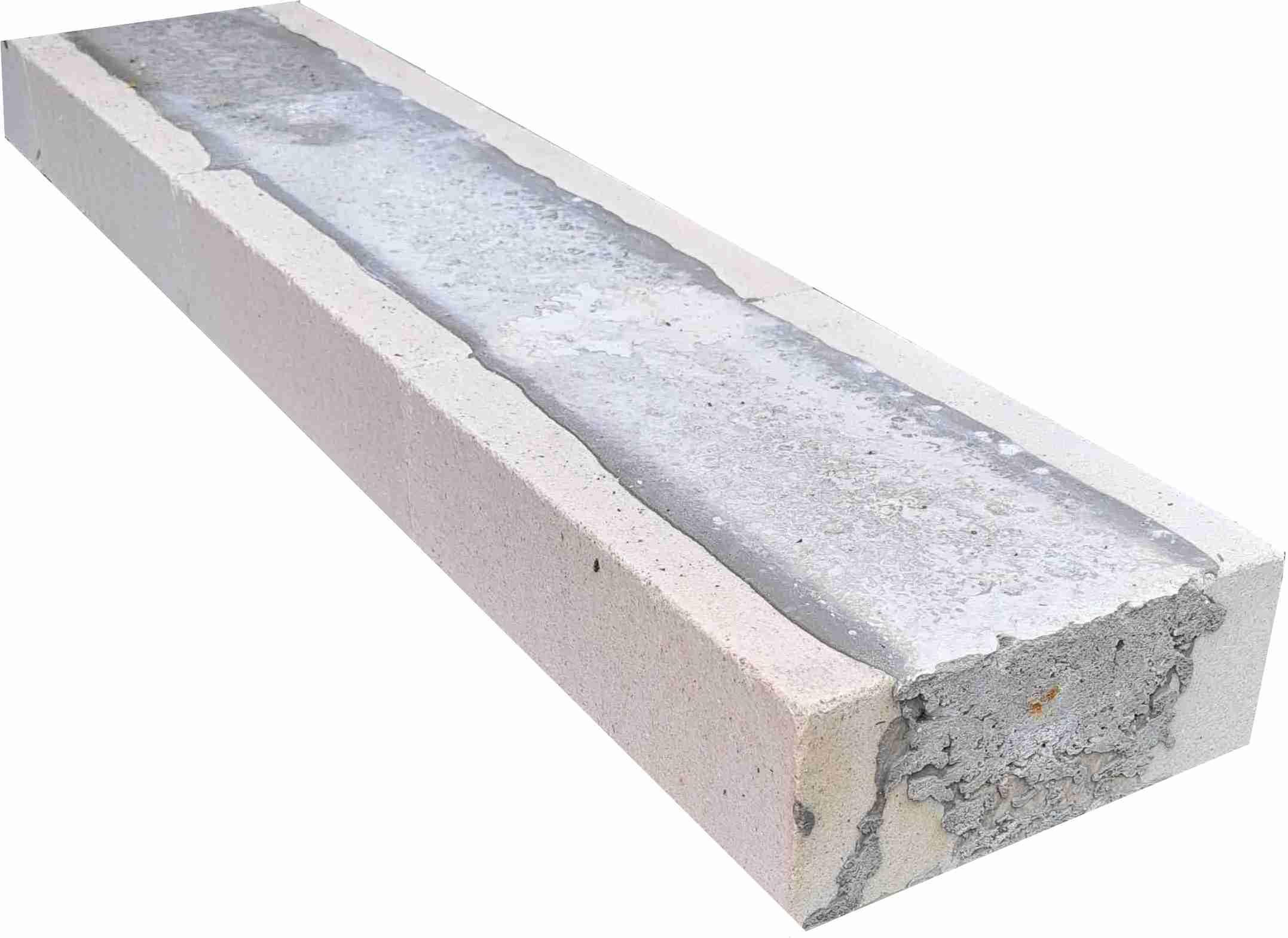 Kalksandsteinstürze NF 7,1 x 17,5 cm 2,50 m