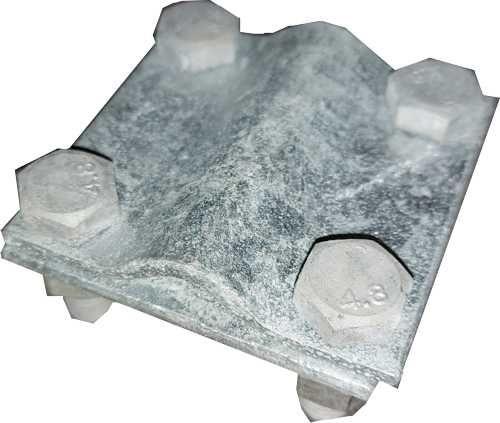 Kreuzstück für Bandstahl zum verschrauben am Betonstahl in verschiedenen Materialien