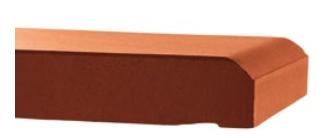 Argelith Mauerabdeckplatte kaminrot 300/115/20 mm I. Wahl