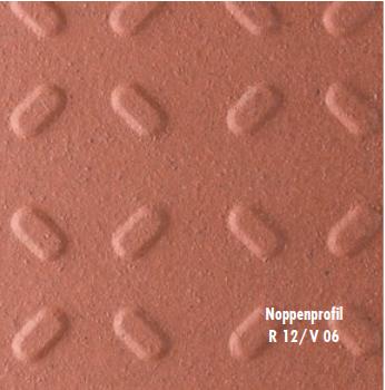 Klinkerplatten Argelith Noppenprofil 240/115/20 mm  II. Sorte kaminrot R 12