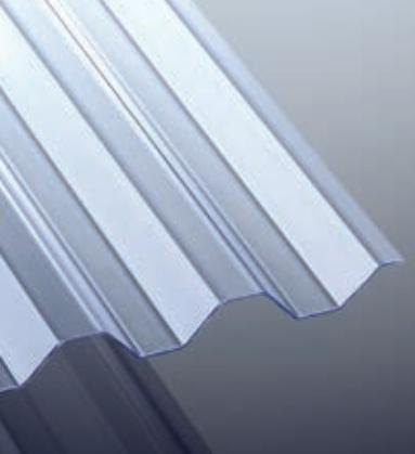 Lichtplatten Trapez/Spundwand K 70/18 Glasklar 1,2/1092 mm