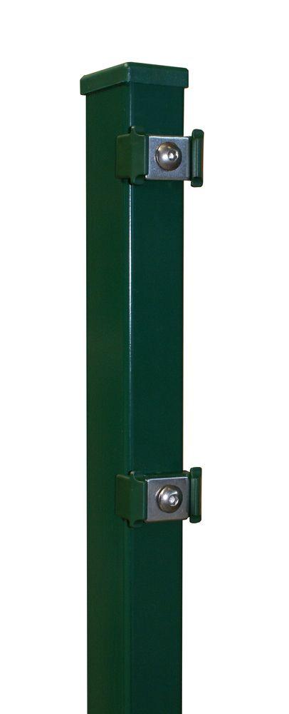 Rechteckpfosten 60x40x1300mm verzinkt grün