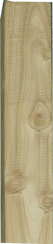 Pfosten Kreuzholz  Kdi grün  9 x 9 cm in verschiedenen Längen