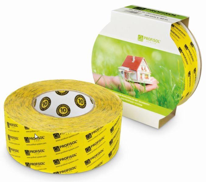 Profisol.cral Klebeband einseitig gelb 60 mm x 40 m für Überlappungen