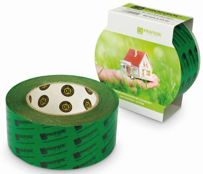 Profisol.san Klebeband grün 60 mm x 25 m für Durchdringungen