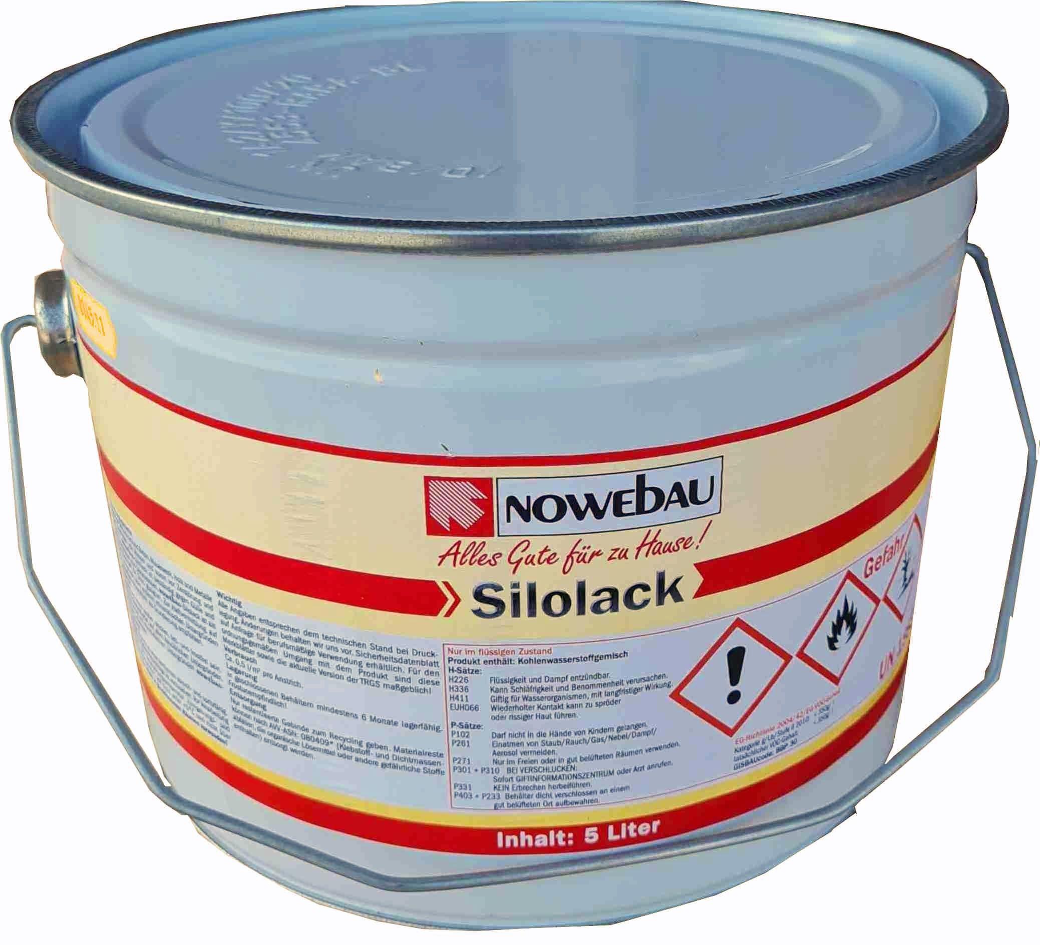 Nowebau Silolack schwarz in verschiedenen Gebindegrößen