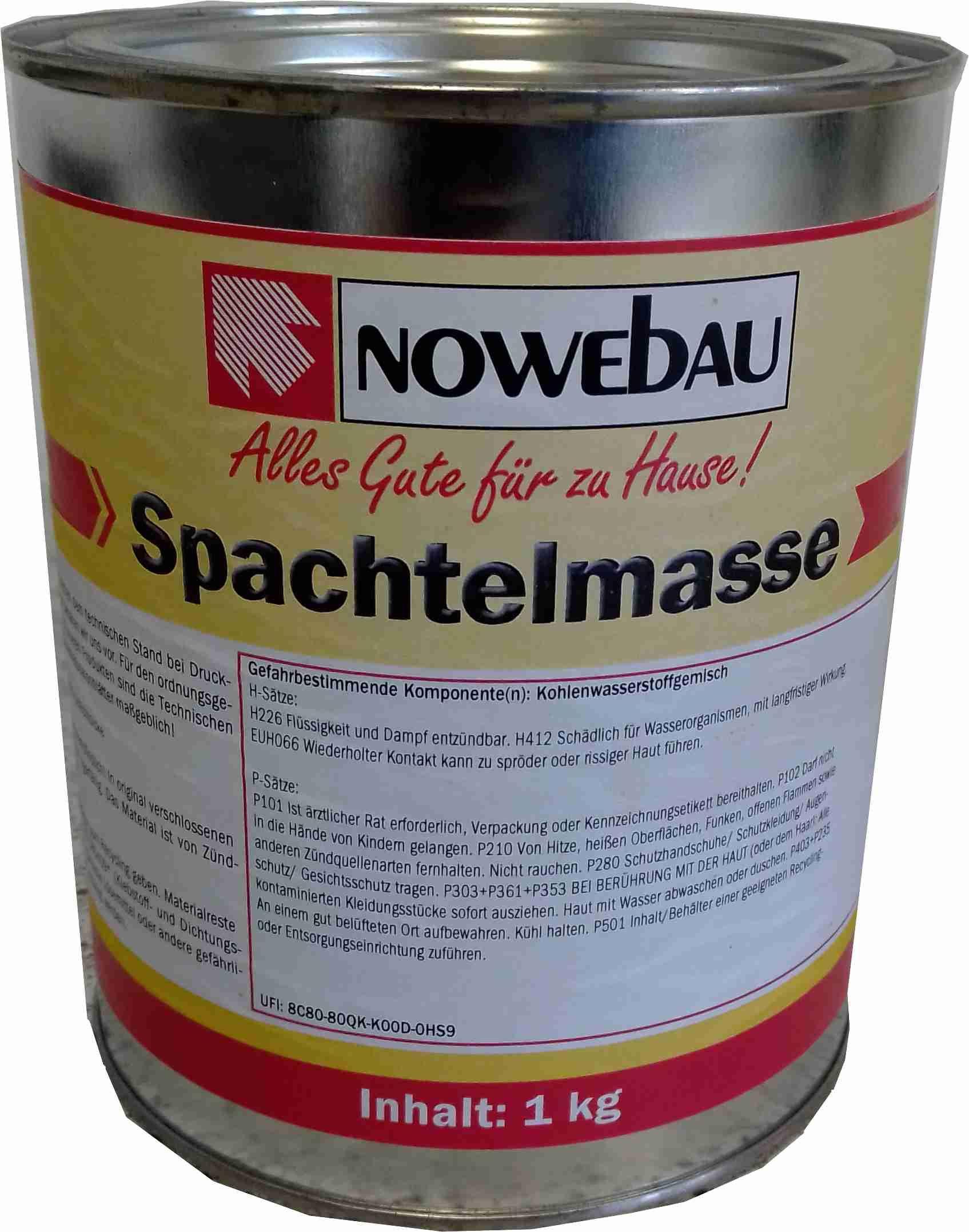 Nowebau Bitumen Spachtelmasse in verschiedenen Gebindegrößen