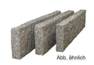 Granit Rasenkante China Pina grau 8/25/100 cm allseitig gesägt & geflammt