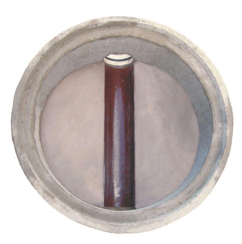 Bodenstück 800/500mm mit Steinzeugschale